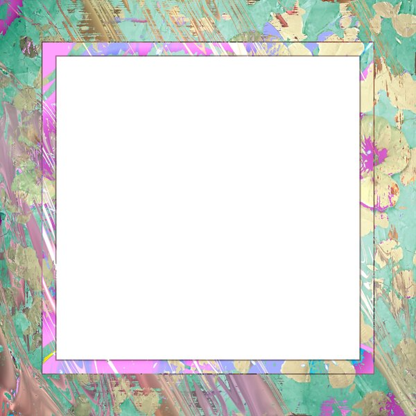 Distressed Floral Frame: A floral painted distressed frame. Can be used in design layouts, scrapbooking, or for displays, etc.