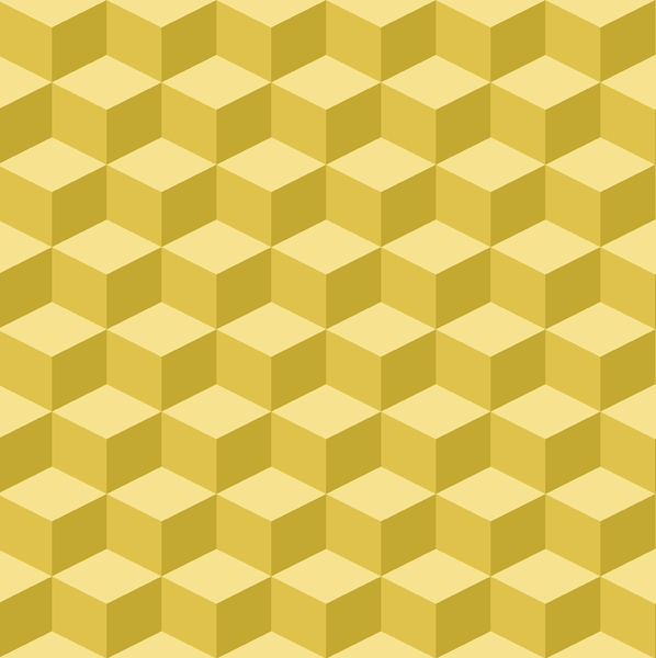 Tumbling Blocks: Seamless tumbling blocks background.  Optical illusion illustration.