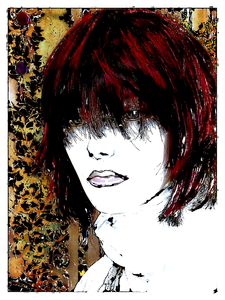 Grunge Portrait Woman 6: A portrait of a woman with a great grunge sketchy effect. Made from a public domain image of a mannequin courtesy Dennis Hill.