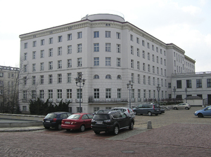 Parliament area building: A bulilding in parliament area, Warsaw, Poland.