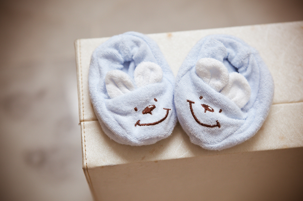 Baby Booties: Photo of a pair of baby booties