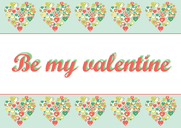 I Heart Border retro Be my Val