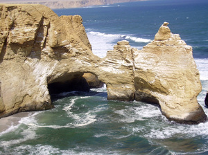 Paracas Rocks 2: Rocks in Paracas - Peru (before the earthquake)