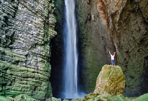 Fumacinha 4: Waterfall in Chapada Diamantina - Bahia - Brazil