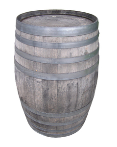 Barrel: A barrel. Isolated.