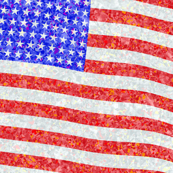 Fourth of July 2: A graphic representing celebrations for Independence Day or Fourth of July in the USA. Stars and stripes with a celebratory feeling.