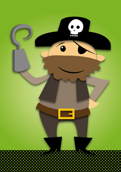 Pirate green background