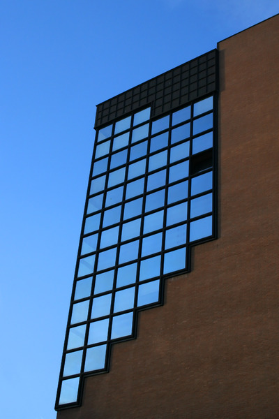 glass and bricks
