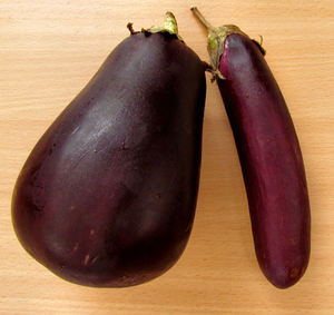aubergine odd couple1: various shaped purple egg plants