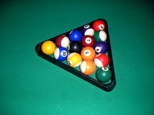 billiards balls in a triangle