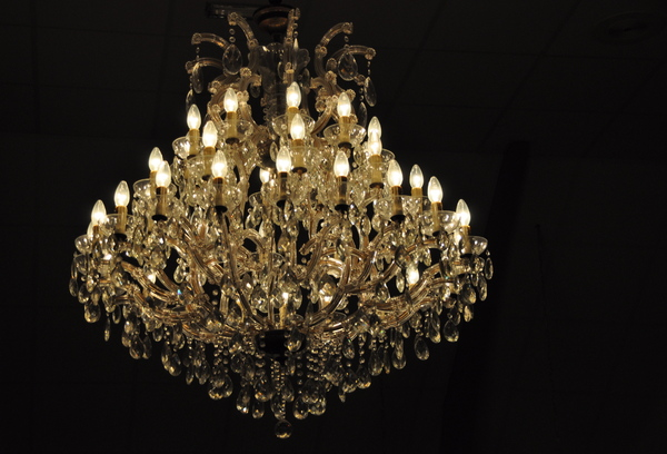 Chandelier: A chandelier at a black background