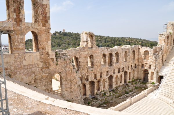 Odeion of Herodes Atticus 2: An ancient theater on the Acropolis in Athens, Greece