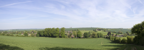 English village panorama
