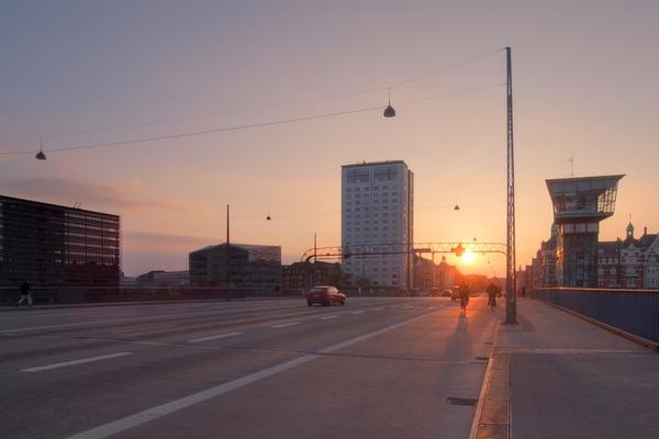 Sunset bridge - HDR