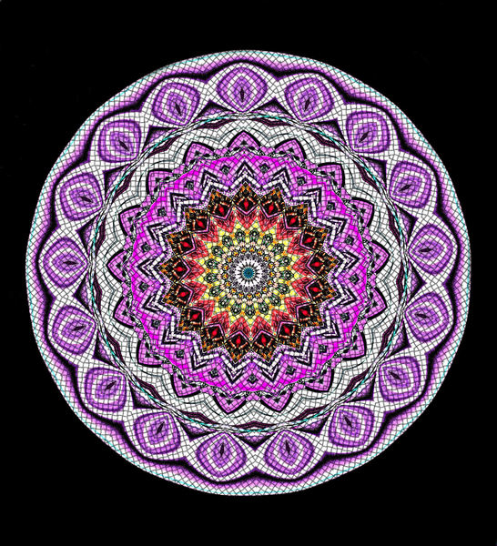 purple mosaic mandala1