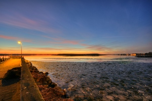 Winter harbour - HDR