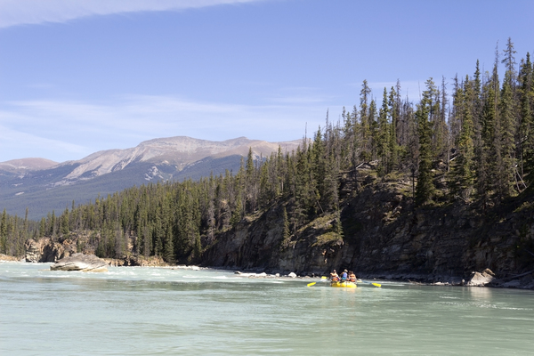 River rafting: River rafting in the Rockies, Canada.