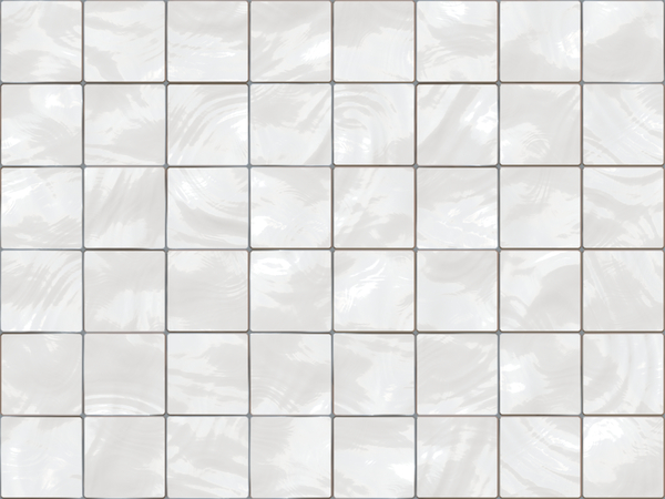 Old White Tiles: A wall of old white ceramic tiles with grey mortar.