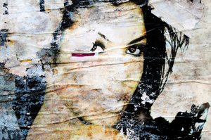 Urban portrait: Peeled poster