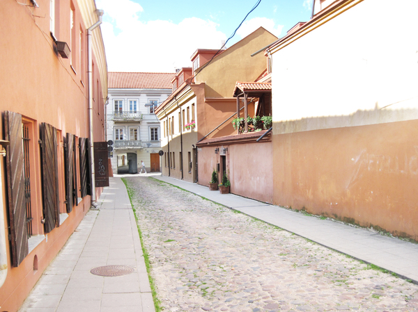 Old town street: A street in old part of Vilnius.