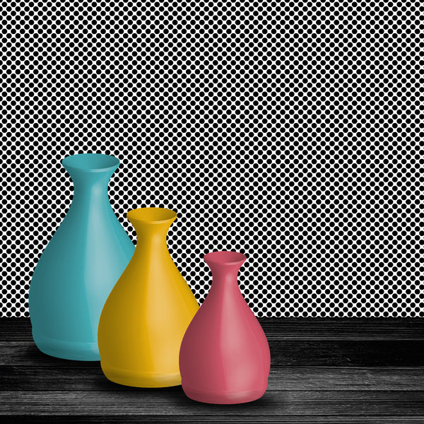 Retro vases: no description