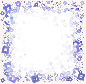Frame of Squares 1: A unique frame of little squares around a blank square.