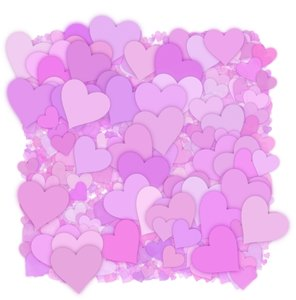 Hearts Texture 4: A 3d cluster of decorative hearts which makes a great texture, fill, stand-alone image or background.