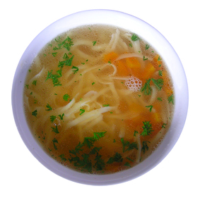Chicken broth: A soup isolated