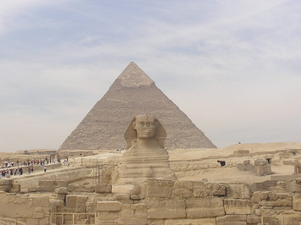 Great Sphinx of Giza: The Sphinx against the Pyramid of Khafre