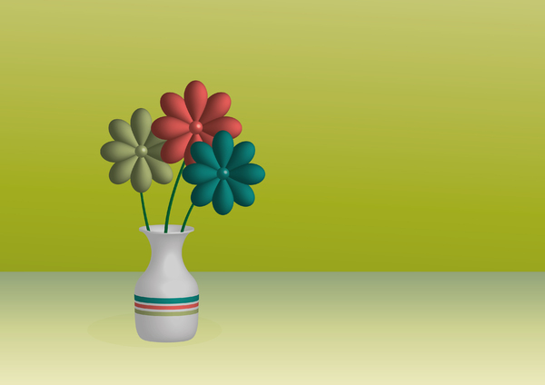 Flowers Retro 3D: Fowers Retro 3D
