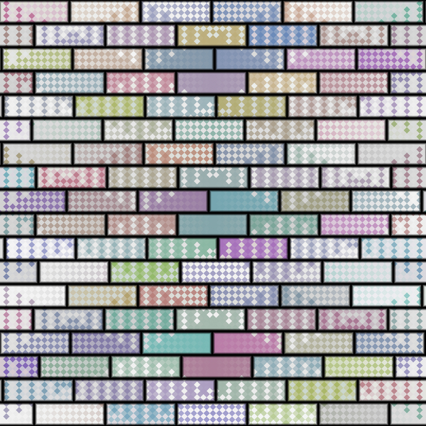 Patterned Brick Wall: A brick wall with diamond patterned texture in multi colours. Makes a great background or texture. You may prefer this:  http://www.rgbstock.com/photo/nZGRIAw/Coloured+Brick+Wall+1  or this:  http://www.rgbstock.com/photo/nZGQcDQ/Coloured+Brick+Wall+3  Ve