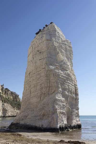 Chalk stack: A chalk stack in the Gargano region, Puglia, Italy.