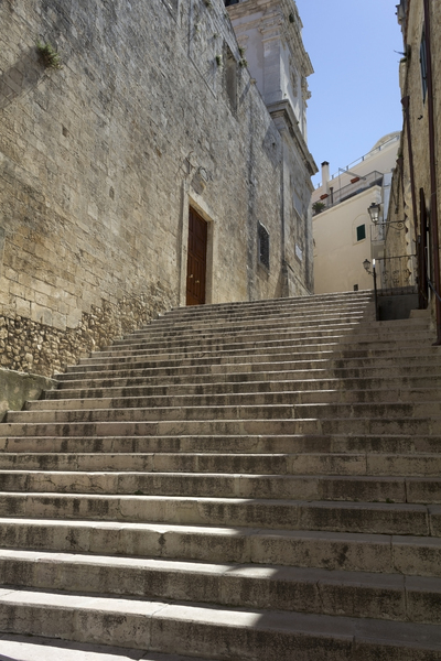 Steps: Stone steps in an old town in southern Italy.