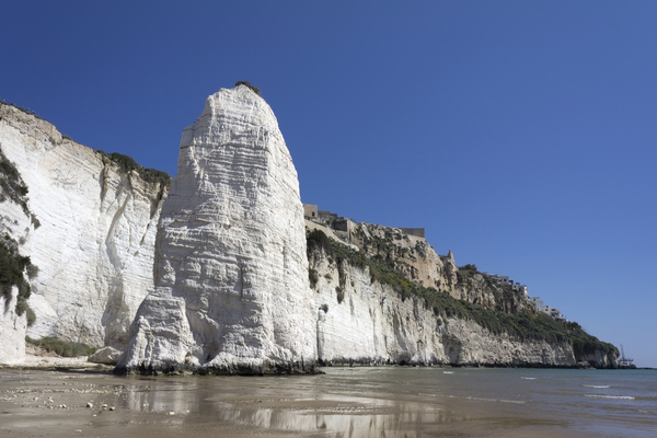 Chalk cliff and stack