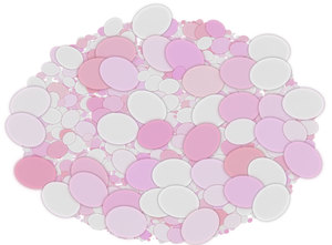 Oval of Ovals: An oval shape made of smaller ovals. This could be an Easter illustration, a great texture, backdrop or fill, or you could put your own content in the little ovals. Remember to abide by the image licence on this site. You may prefer this:  http://www.rgbs