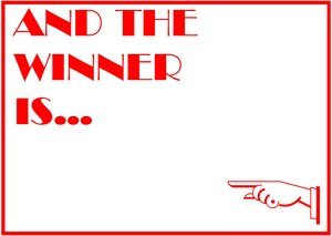 Winner: A banner to announce the winner or champion, with room for your own content. Art deco style.