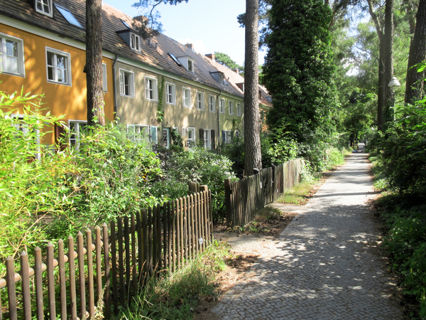 rural berlin street scenery