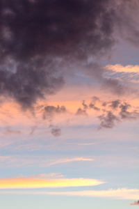 Clouds at sunset: Clouds reddened by the setting sun.