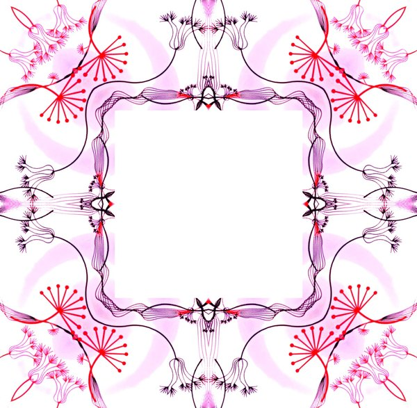Ornate Floral Frame 3
