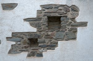 Wall detail: Part of an old wall in Leiwen, Germany