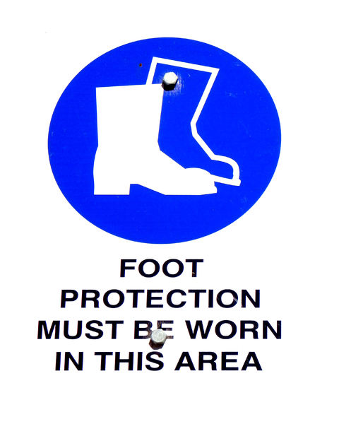 safety feet: safety first for safe feet advice sign
