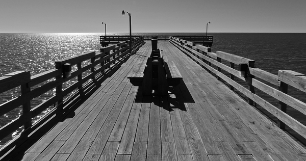 Mexico Beach, FL Pier: Main pier in city of Mexico Beach, FL.