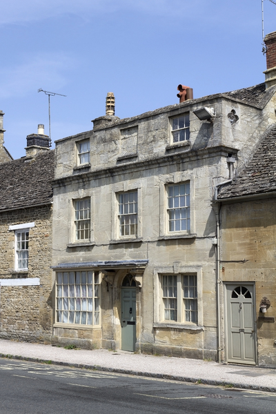 Old stone houses: Old houses in Wiltshire, England.