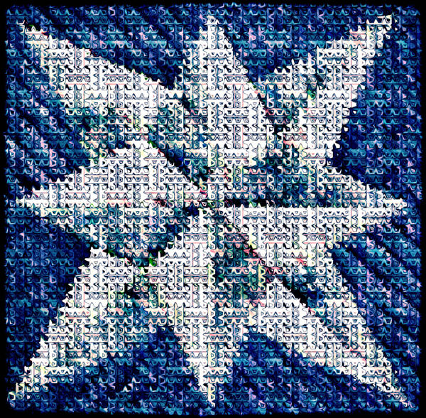 Christmas star mosaic1