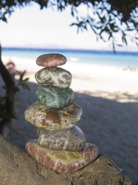 Stones from a beach: A selection of stones found on the island of Rhodes.
