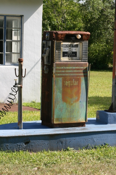 old gas pump 1: old gas pump