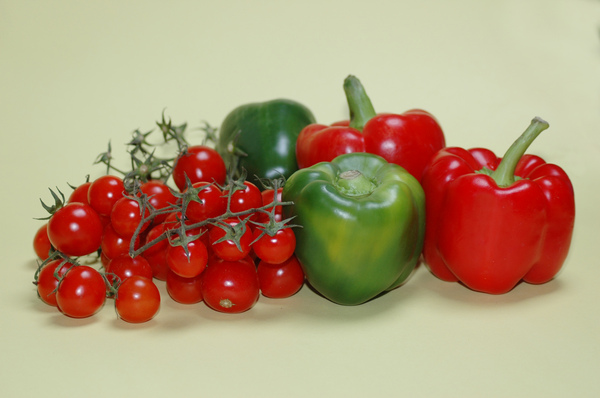 Tomatos and peppers