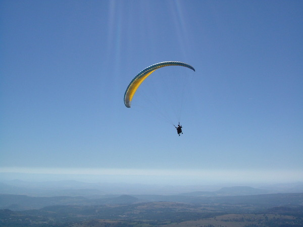 Paragliding at the Puy-De-Dome