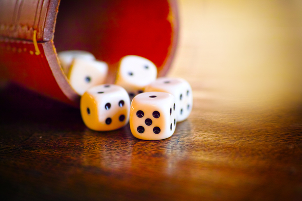 Dice on a table