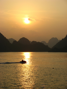 HALONG Bay: Sunset at Ha Long Bay...